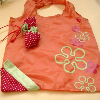 Mkiyo 8 Colors Eco Shopping Storage Bag Strawberry Shape FoldableReusable Shopping Handbag - intl