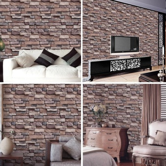 Modern Faux Brick Textured Adhesive Wallpaper for Living Room Bedroom Hallway TV Background Home Decor 45 x 1000cm - intl - 5