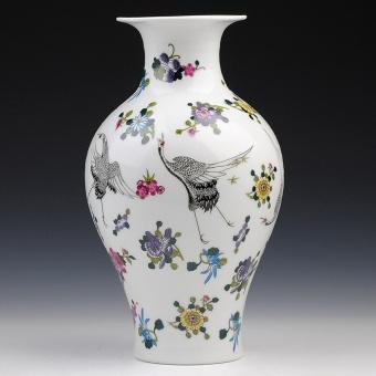 Modern yang sederhana matte bercahaya porselen vas