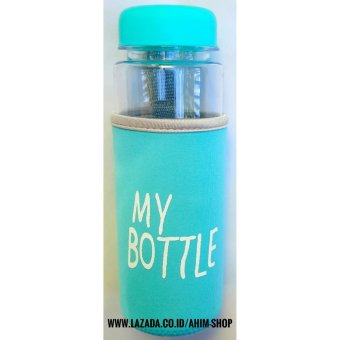 My Bottle CLEAR 545 ml + POUCH Botol Minum Infused Water - BIRU