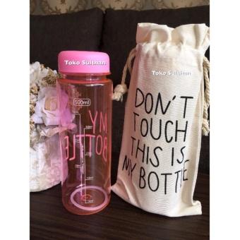 Detail Produk My Bottle NEW CLEAR Botol Warna Warni 500ml - PINK plus TAS