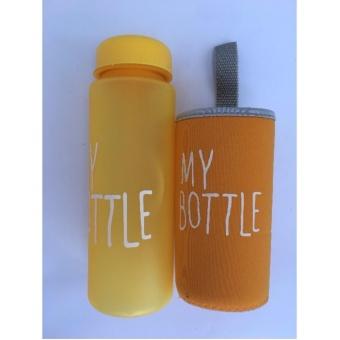 My Bottle NEW DOFF Botol Warna Warni 500ml - KUNING plus POUCH