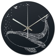 Nail Your Art Jam Dinding Unik Artistik - Blue Whale - Artistic Unique Wall Clock