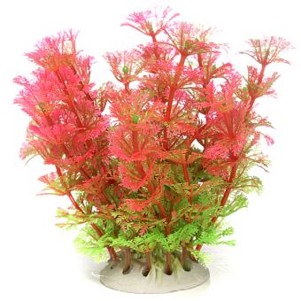NEW Warnawarni Plastik Buatan Pabrik Air Rumput Tangki Ikan Dekorasi Aquarium Berwarna Merah Muda