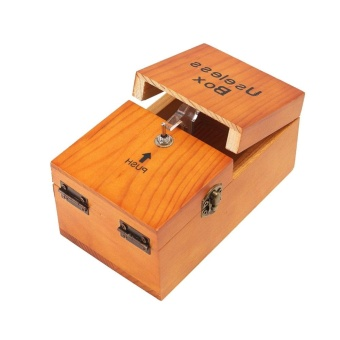 New Wooden Useless Box Leave Me Alone Interesting Pastime MachineKit Gift Toys - intl