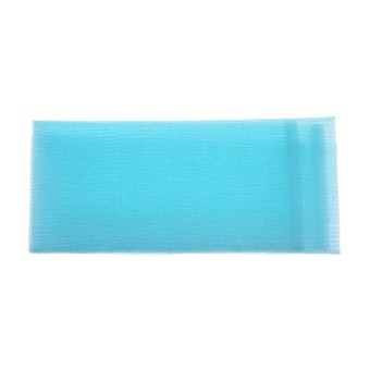 Nilon Busa Mandi Handuk Cepat Kering Lembut Wajah Handuk Cuci Alat Pembersih (Biru)-