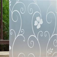 OEM 45 Cm X 100 Cm Buram Menutupi Jendela Kaca Film Stiker Bunga Dibetulkan Tambahan Dekorasi Rumah