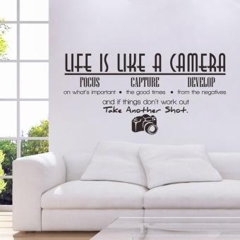 Yang Dapat Dilepas OEM Hidup Ini Seperti Sebuah Kamera Diseduh Sendiri Stiker Dinding Mural Kamar Dekorasi