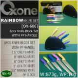 ... Oxone Rainbow Knife Set Pisau Set OX-606 5 Pcs - 3