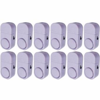 Paket Keamanan Rumah 7STAR - 12 PCS Alarm Pintu Anti Maling Kecil - Putih