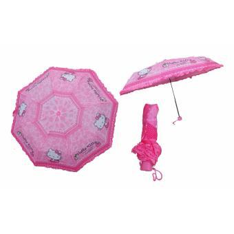 Payung Lipat Renda Karakter Hello Kitty