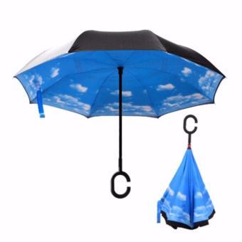 Payung Terbalik Kazbrella Reverse Umbrella Gagang C Unik