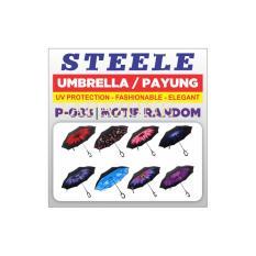 Payung terbalik motif P-083 gagang C STEELE