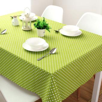 Detail Gambar Produk Pedesaan hijau besar giok meja makan kain katun kanvas menebaltaplak meja persegi dan bulat taplak meja - International Terbaru
