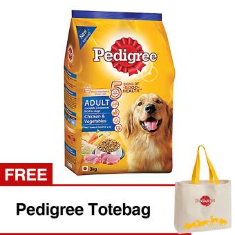 Pedigree Chicken Vegetables 3 Kg Free Pedigree Totebag