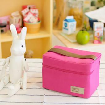 Pendingin Portabel Isolasi Termal Kotak Bento Makan Siang Tas Piknik (Naik Merah .