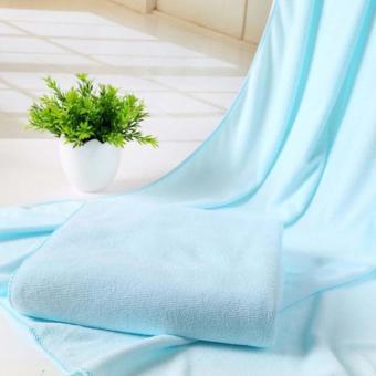 Penyerap serat mikro pengeringan mandi handuk pantai renang handuk 30 cm x 70 cm (langit