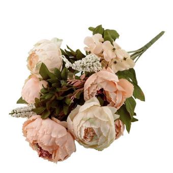 Peony Bunga Buatan Taman Rumah Pesta Pernikahan Buket Pengantin Dekorasi Berwarna Merah Muda .