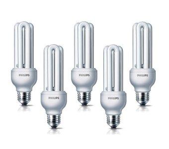 Philips Essential 18 Watt Lampu Hemat Energi 5 Pcs - Putih