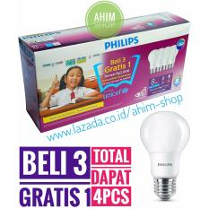 PHILIPS Lampu LED Bulb 8W (7W) UNICEF Beli 3 Gratis 1 - Cool Daylight (Putih)