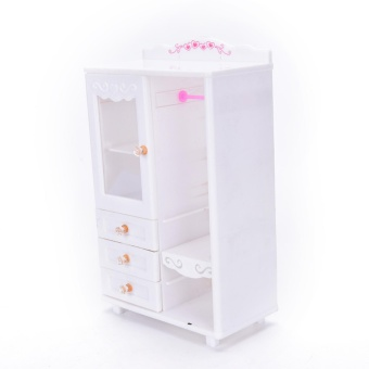 Plastic Furniture Living Room Wardrobe for Barbie Dollhouse Accessories Toy - intl - 4