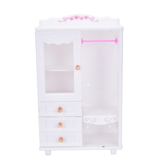 Plastic Furniture Living Room Wardrobe for Barbie Dollhouse Accessories Toy - intl - 2