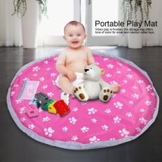 Portable Kids Mobile Play Mat Bag Toy Storage Organizer (Pink)-Intl