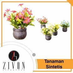 [PROMO] Dekorasi Tanaman Sintetis Palsu Bulat Synthetic Fake Flower Plant YZB1