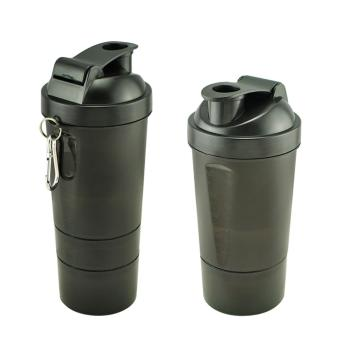 Protein Shaker Three layers of Blender Mixer BLACK BOTTLE - intl