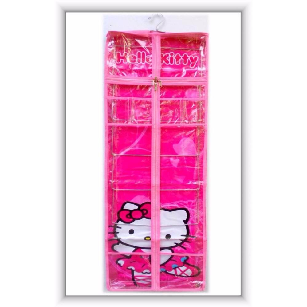 Bandingkan Toko RAK JILBAB Gantung Hanging JILBAB Organizer (HJO) Hello Kitty PINK Berkualitas harga