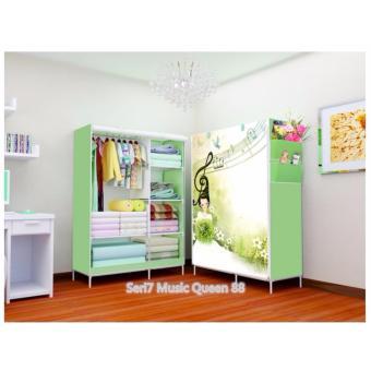 harga Rak Pakaian Plastik Furniture Murah Lemari Baju Gantung Lemari Handuk Lemari Sprei Handuk Tas Music 2 Kolom Lazada.co.id