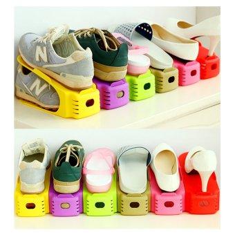 Rak Sepatu Minimalis / Tempat Sepatu Portable Unik Murah TS-03 -Green - 3