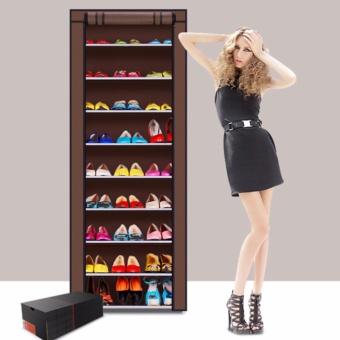Cek Harga Baru Mellius Rak Sepatu Lemari Sepatu 10 Tingkat Kain Bisa ... 4a798475f7