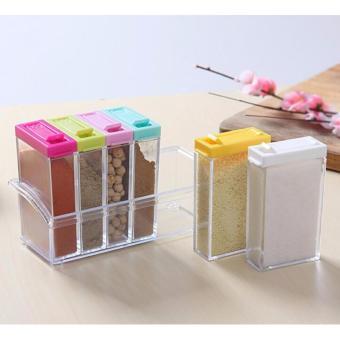 Detail Gambar Rak Tempat Bumbu Dapur 6 in 1 Seasoning Box Serbaguna dan Variasi Modelnya