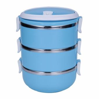 Rantang Makan 3 Susun Stainless Steel/ Lunch Box 3 Layer Stainless Steel - Warna