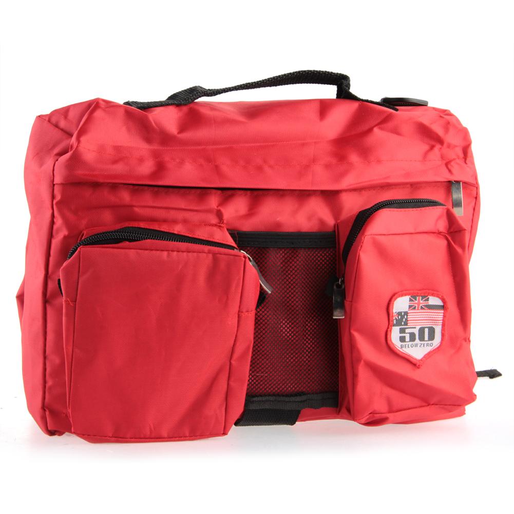 Red PET pet dog Carrier Camping Hiking Carrier Carrying Bag SaddleBag Backpack-