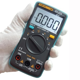 RICHMETERS True RMS LCD Digital Multimeter DMM DC AC VoltageCurrent Resistance Diode Capacitance Temperature Tester MeasurementAutomatic Polarity Identification Ammeter Voltmeter Ohm - intl