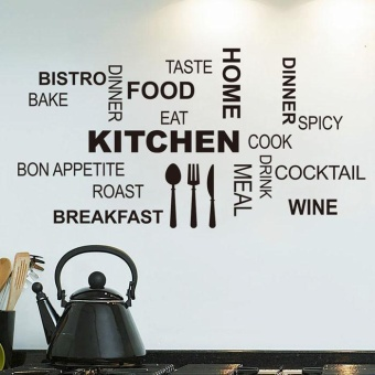 ROJEY-Hot!Kitchen Letter Removable Vinyl Wall Stickers Mural DecalQuotes Art Home Dec - intl