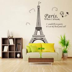 Romantis Paris Menara Eiffel pemandangan indah dari Perancis diseduh sendiri stiker Wallpaper dinding seni dekorasi lukisan dinding kamar stiker