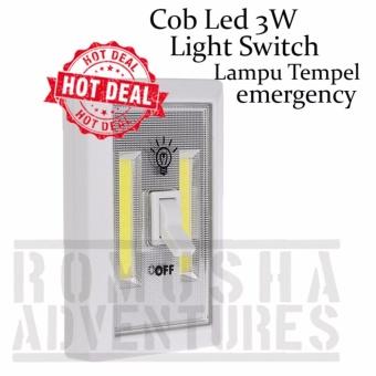 Romusha Cob Led 3w Light Switch Lampu Tempel Magnet Multifungsi
