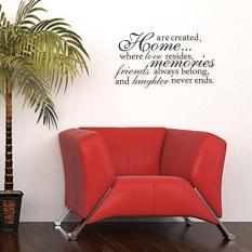Rumah Dimana Cinta Tinggal Quotes Decals Dekorasi Ruang Tamu Kamar Tidur Wall Stiker