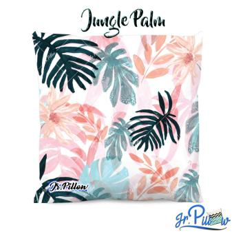 Sarung Bantal Sofa Jr.Pillow Satin Premium 45x45cm Jungle Palm + Isi Bantal