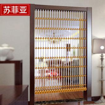 Bermanik Manik Kristal Rumbai Tali Tirai Jendela Rumah Dekorasi Pintu Pembagi 1 M X .