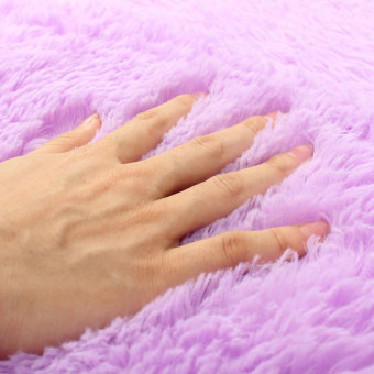 Shaggy Anti-skid Carpets Rugs Floor Mat/Cover 80x120cm Purple-