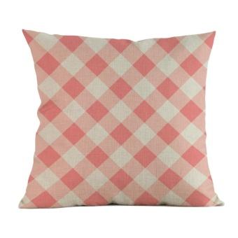 Jual Throw Pillow : Jual Simple Love Painting Linen Cushion Cover Throw Pillow Case Sofa Home Decor E - Intl ...
