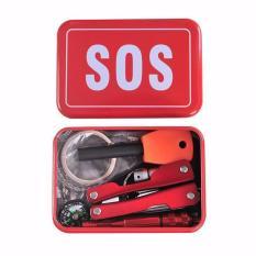 Skytop Alat Survival Portable SOS Tool Kit Earthquake Emergency Onboard Outdoor Survival