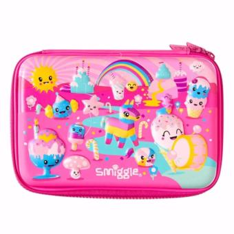 Smiggle Scented Party Hardtop Pencil Case - Pink