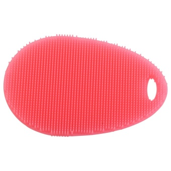 Soft Silicone Dishes Washing Cleaning Brush Kitchen Home ScrubberWash Tool(Red) - intl