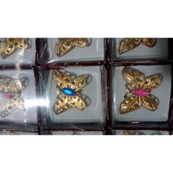 ... Souvenir Pernikahan Bros Kupu - Kupu Gold Isi 100 Pcs - 4 ...