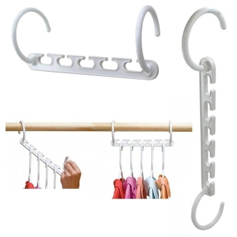 Space Wonder Magic Hanger Useful 5 Hole Hook Closet OrganizerWindproof Clothes Hanger Cloth Rank Organizer Hanger
